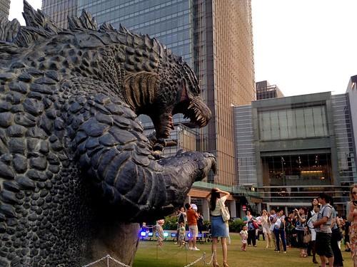 Godzilla invades Tokyo Midtown