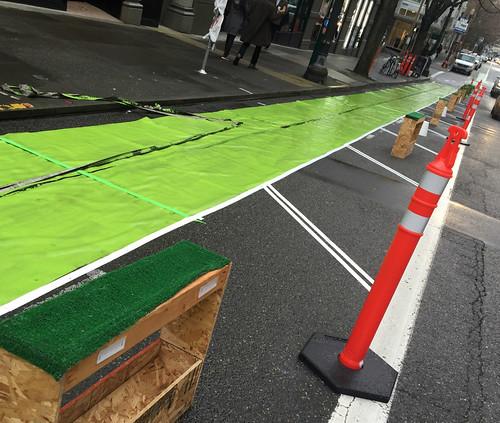 Pop-up bikeway on SW Broadway-1.jpg