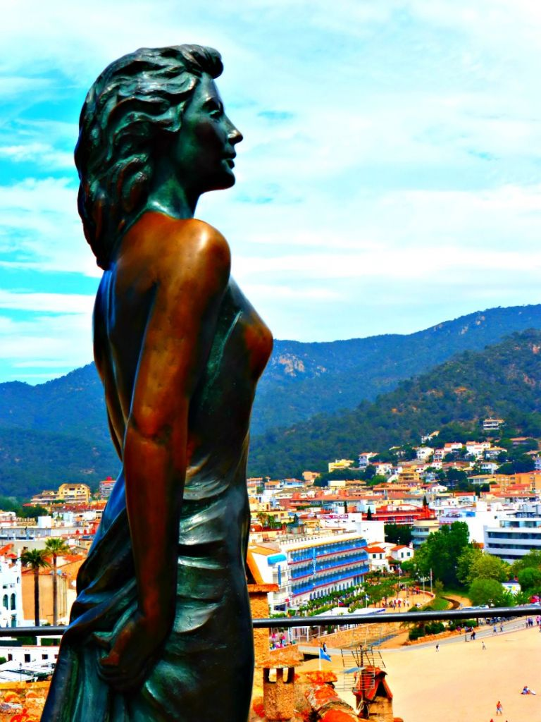 Bronze Statue of Ava Gardner in Tossa De Mar