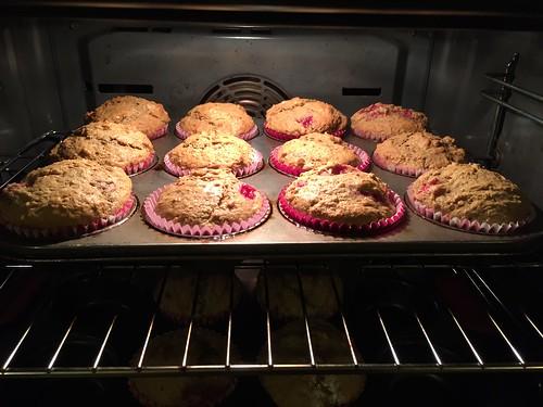Raspberry Coffee Muffins