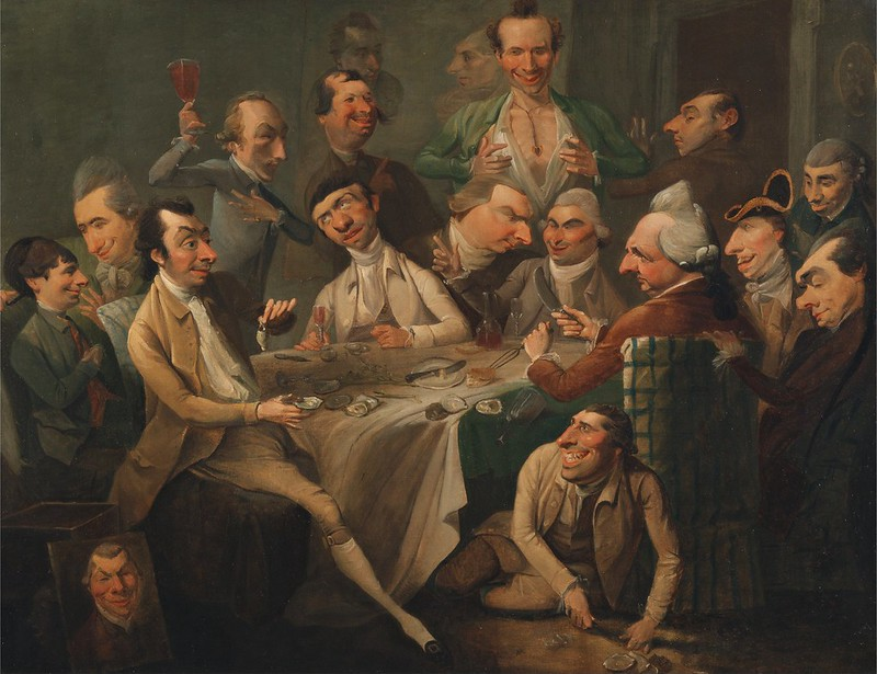 John Hamilton Mortimer - A Caricature Group (1766)