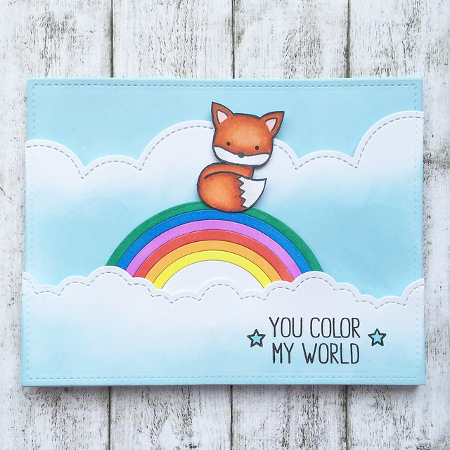 Interactive card with the cutest fox ever!!