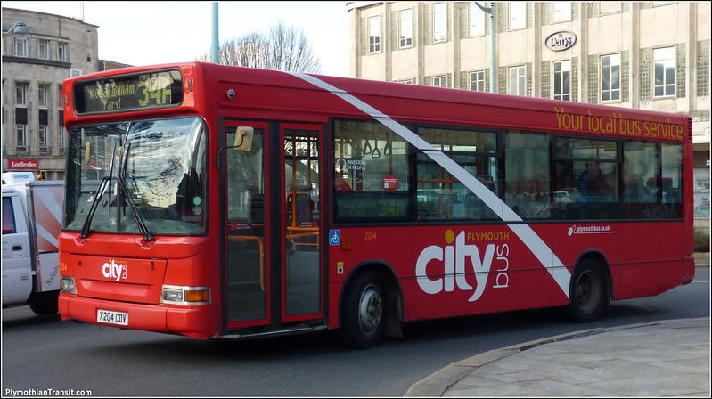Plymouth Citybus 204 X204CDV