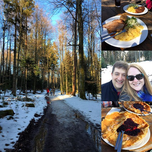 Beautiful day hiking in the Black Forest with Jon's co-workers. Stopped along the way and had a fantastic blueberry pancake, which is totally something every hike should have.❤️☀️❄️🍴👣