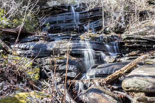 Pinnacle Mountain Trailside waterfall