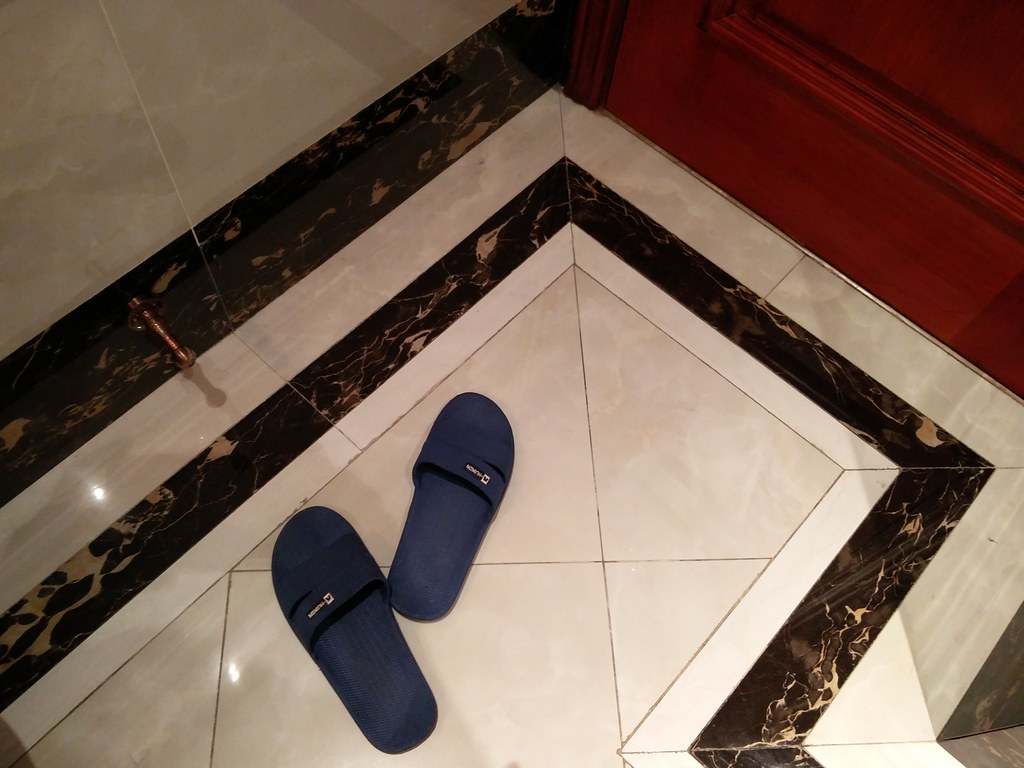 Slippers in the shower room