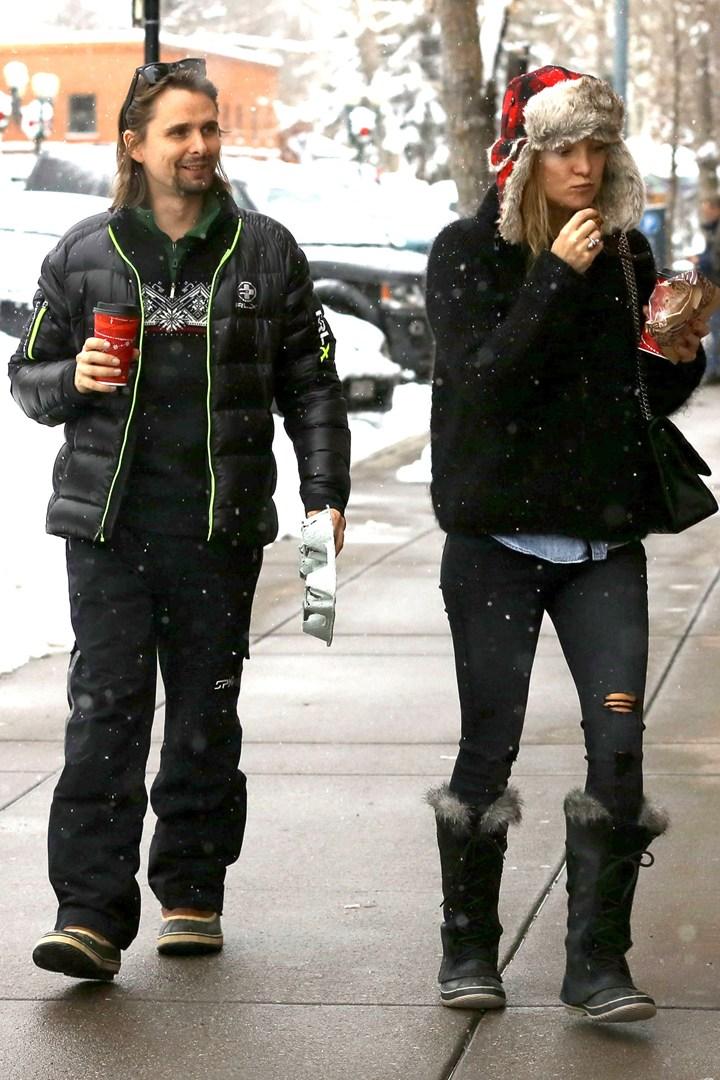 Кейт Хадсон на прогулке с Беллами