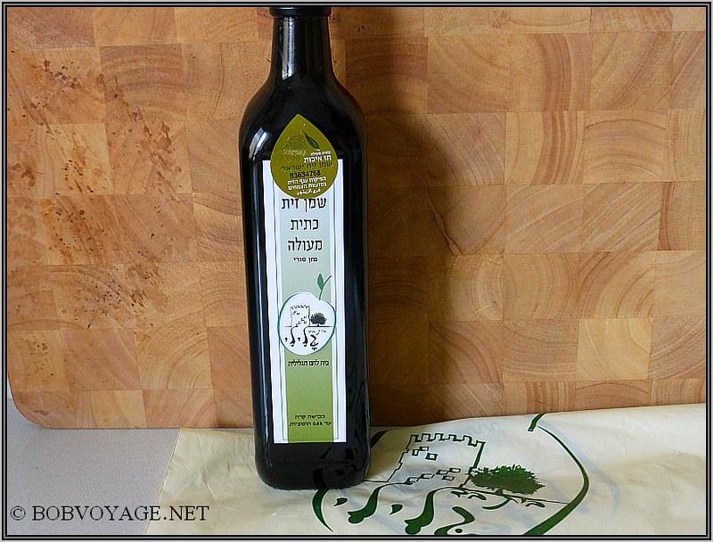 שמן הזית שנקנה ב- סיור קולינרי בצפון