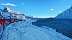 Lago Bianco - Window view from the Rhätische Bahn - Graubünden - Switzerland