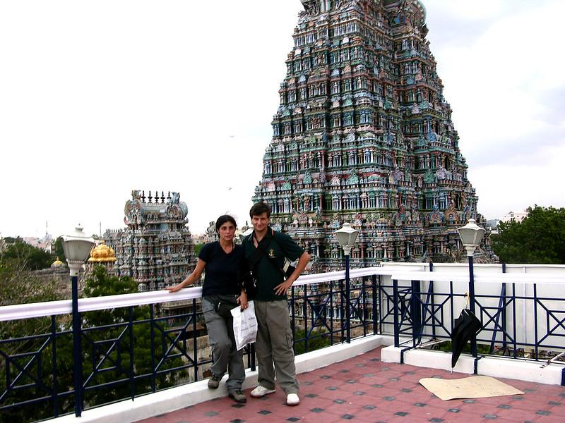 Terraza junto al Templo de Sri Meenakshi