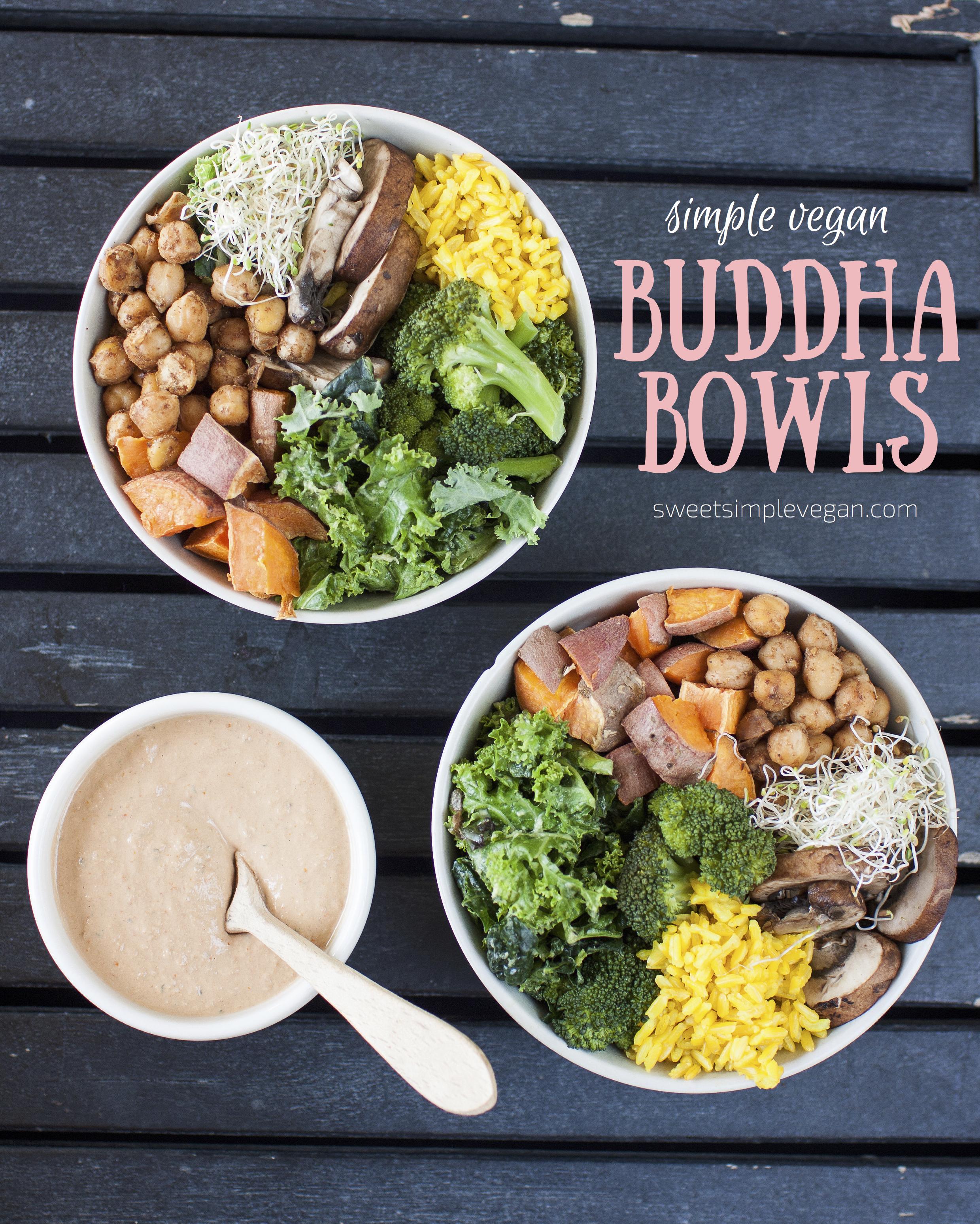Simple Vegan Buddha Bowls w/ Sundried Tomato Tahini Dressing & Savory Granola {oil-free} sweetsimplevegan.com
