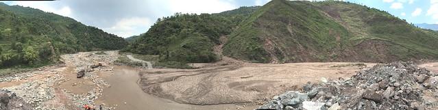 Landslide below Dana road flowing into Aghar Nulluh, Kashmir