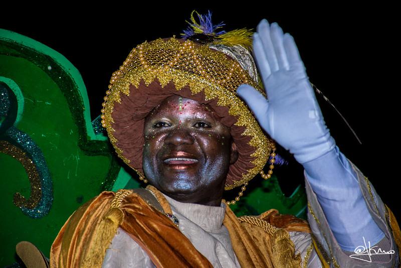 Rey Baltasar, Cabalgata de Reyes Magos en Sant Joan Despí 2016