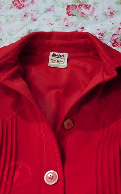 diolen, dress, sukienka, szmizjerka, vintage, 1960s, lata '60.