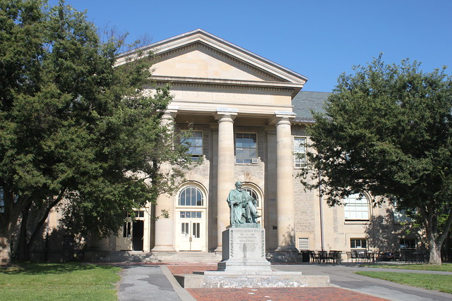 Photo:Andrew Dickson White Statue and Goldwin Smith Hall, Ithaca, NY By joseph a