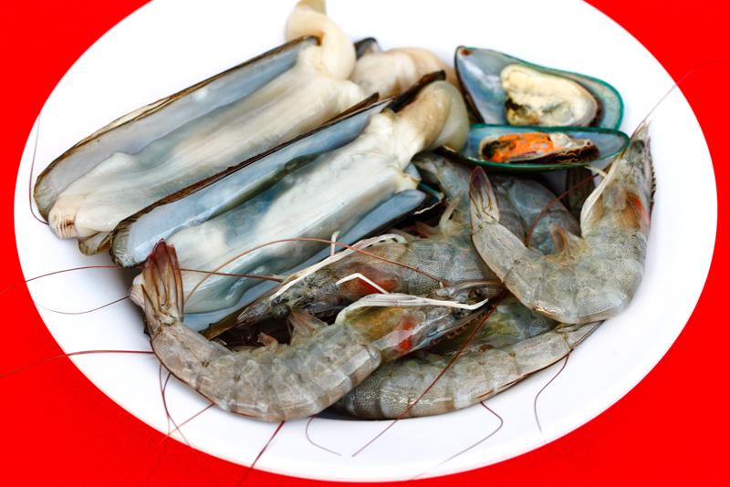 QQ BBQ Steamboat Seafood Prawns