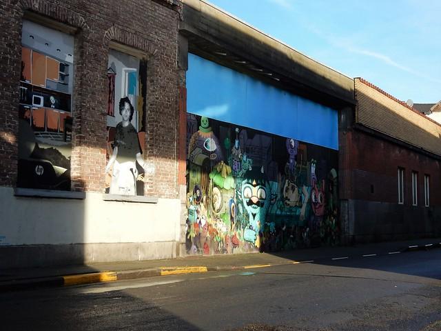 Streetart, Nieuwland, Gent