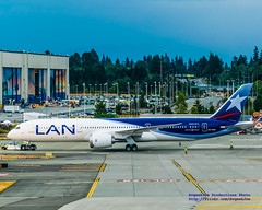 A LAN 787-8 AT THE PAINE FIELD COMPASS ROSE