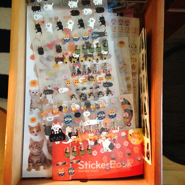 Sticker drawer: cats