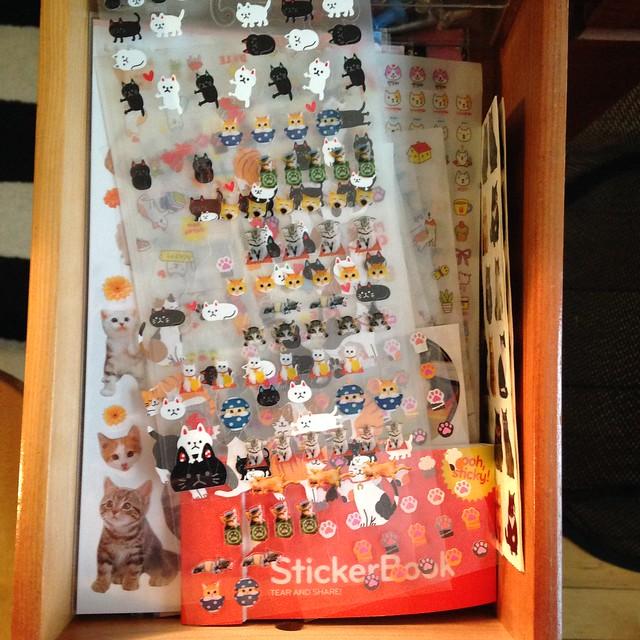 Sticker drawer: cats