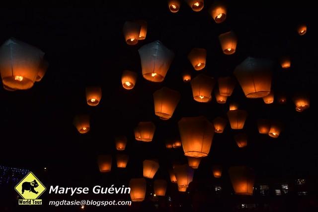 Sky lanterns festival Pingxi