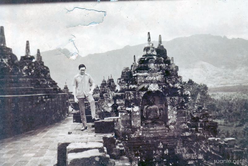 Borobudur, Yogyakarta - December 1973 near main stupa