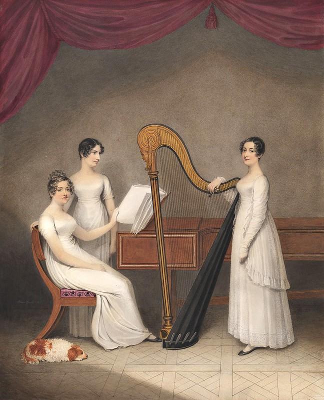 Adam Buck - Three young women making music (1811)