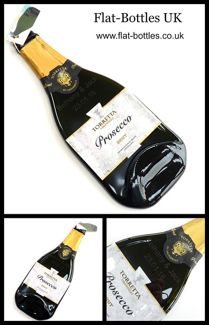 flat champagne bottle
