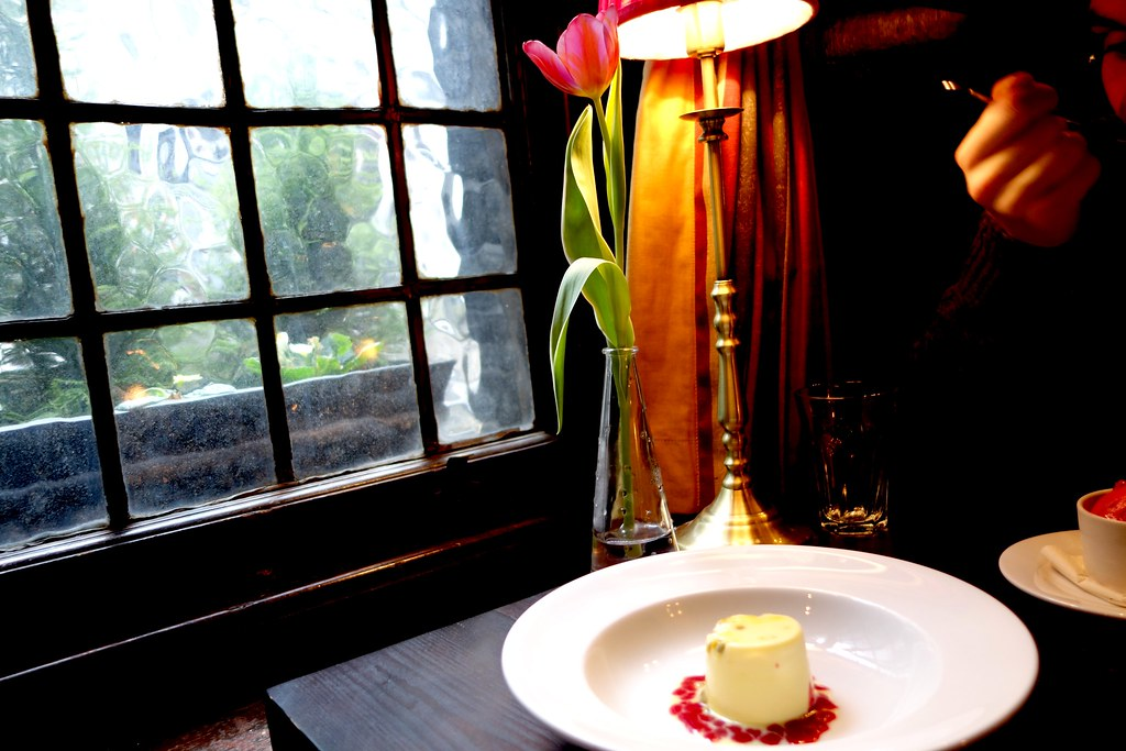 The Ship Tavern - Valentine's Day Passionfruit and Raspberry Pannacotta