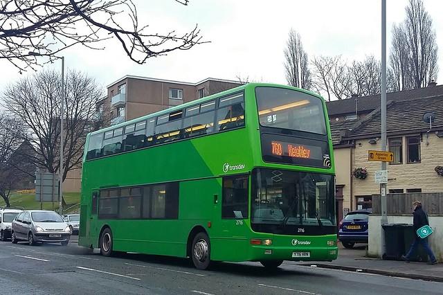 Y716HRN Transdev in Keighley Volvo B7TL 2716