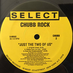 CHUBB ROCK:JUST THE TWO OF US(LABEL SIDE-B)