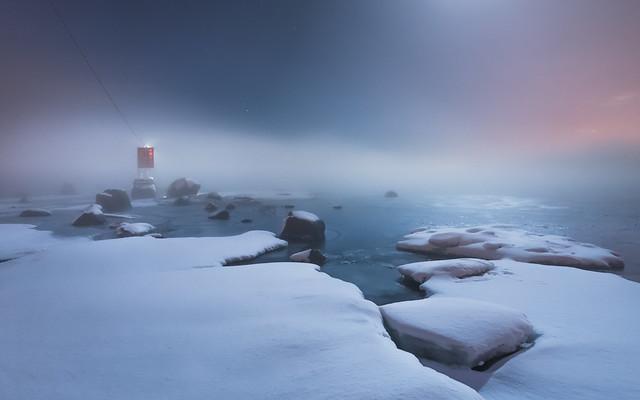 Foggy night at Norssalmi