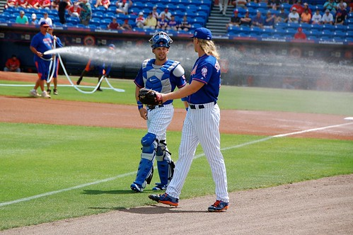 Kevin Plawecki and Noah Syndergaard