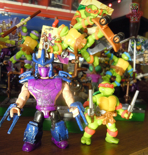 tOkKUSTOM :: 88 SHREDDER - MEGA BLOKS Mini vii / ..with CLASSIC Toon RAPHAEL '16 mini fig