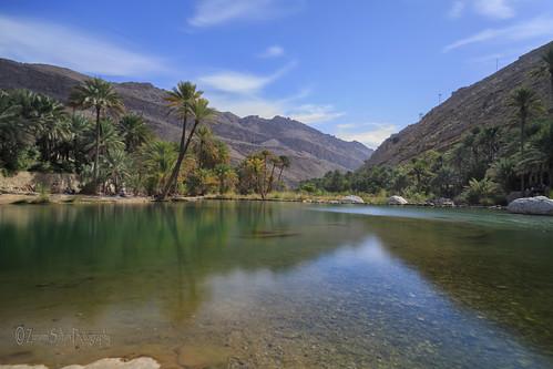 mountains desert middleeast palmtrees oasis valley heat oman wadi turqoise wadibanikhalid sultanateofoman