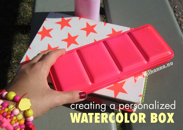 Personalizing a Watercolor Box