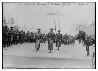 U.S. troops at landing port, France (LOC)