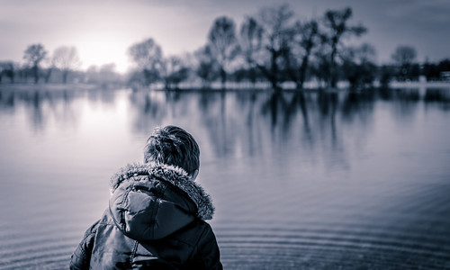 trees winter lake cold nature water sunrise landscape outside kid alone moody ripple horizon croatia peaceful zagreb distance jarun