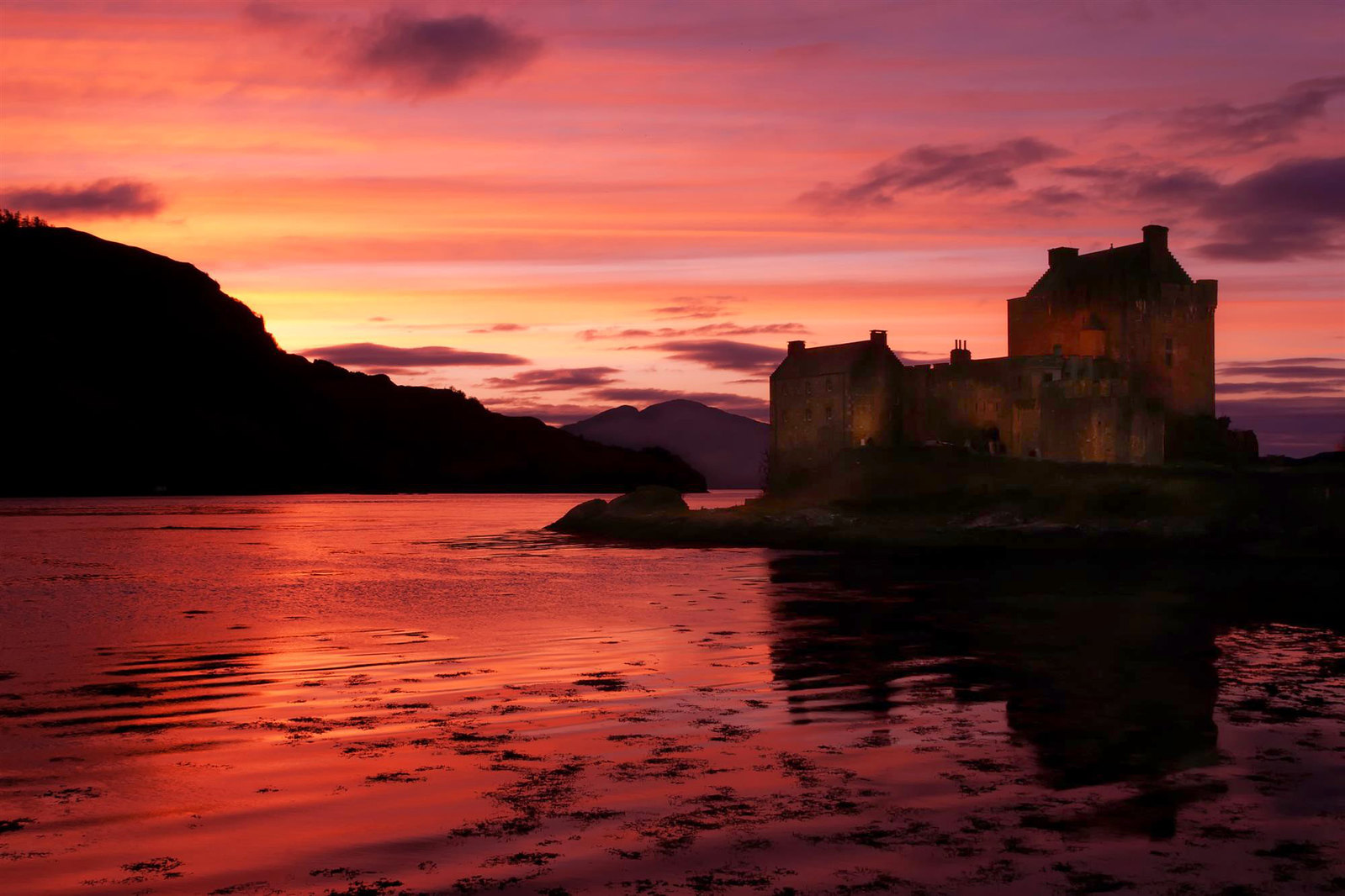 Eilean Donan Castle Sunset. Credit H Matthew Howarth