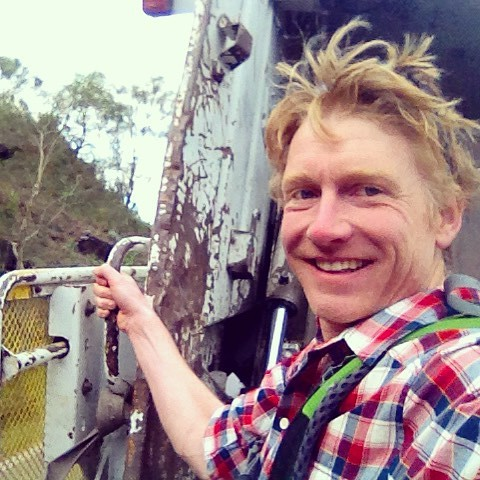 Amazing hitchhike on back of dustcart over Italian mountain pass. Smelly but exciting. Clinging & grinning / holding on & holding my nose. Apologies for the selfie, but I'll hope you'll indulge me this once as this was an exceedingly fun way to hurtle up