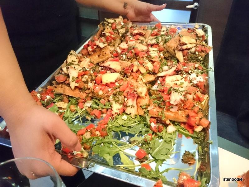 Platter of bruschetta