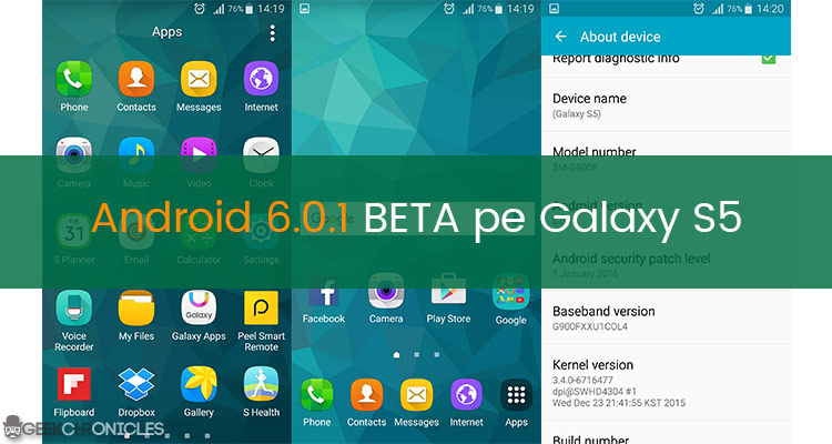 android 6.0 galaxy S5