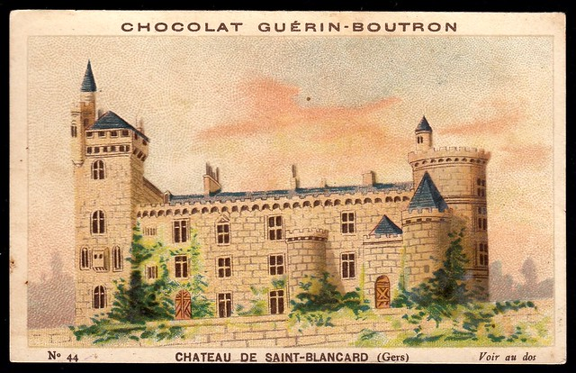 French Tradecard - Chateau de Saint-Blancard