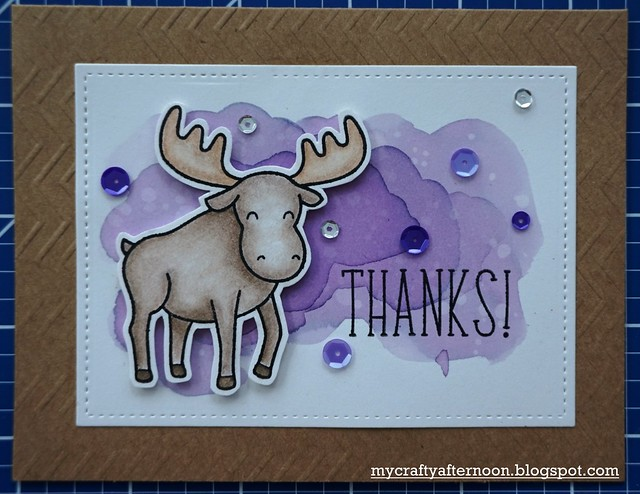 Thank You Card Series Moose