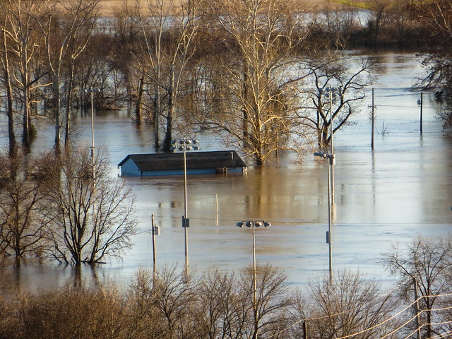 Flooding in Valley Park, Missouri