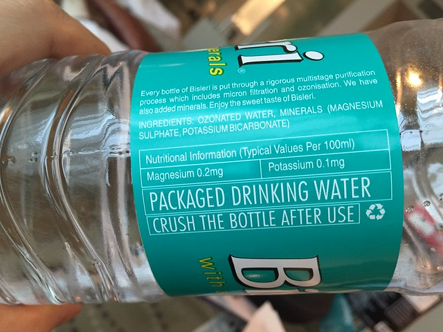 "Bisleri with ""added minerals"""