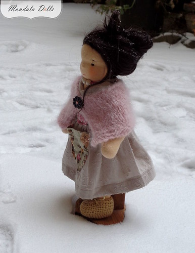 Liza 35cm waldorf style doll with weft mohair hair_2