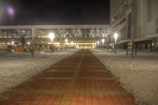 Asahikawa Station in early morning on JAN 04, 2016 (2)