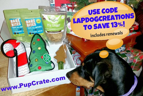 Doberman Puppy Loves PupCrate - Save 13% with coupon code LAPDOGCREATIONS