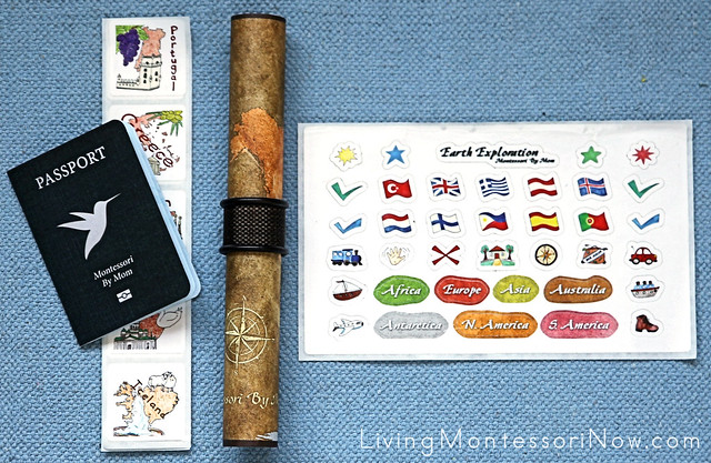 Map and Passport Activities from Montessori By Mom